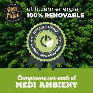 Utilizamos energía 100% renovable